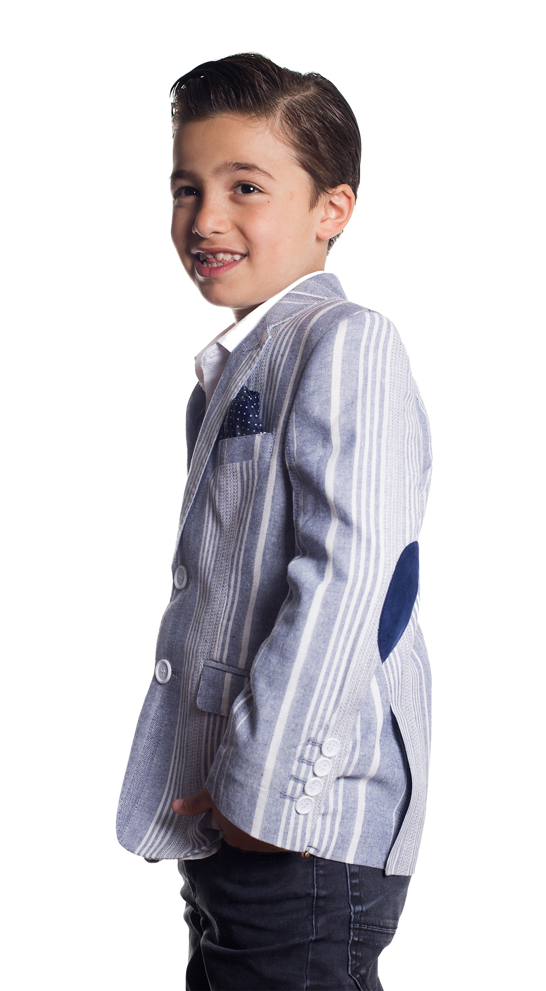 Wild Stripe Pattern Boys Blazers / Sports Coat Jacket EBBS1664