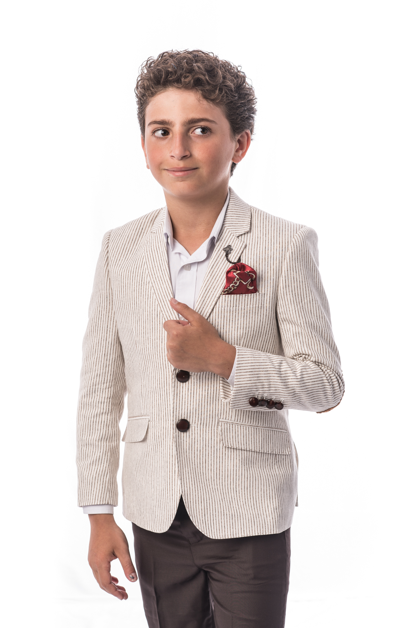 Pinstripe Boys Blazers / Sports Coat Jacket EBBS1705B