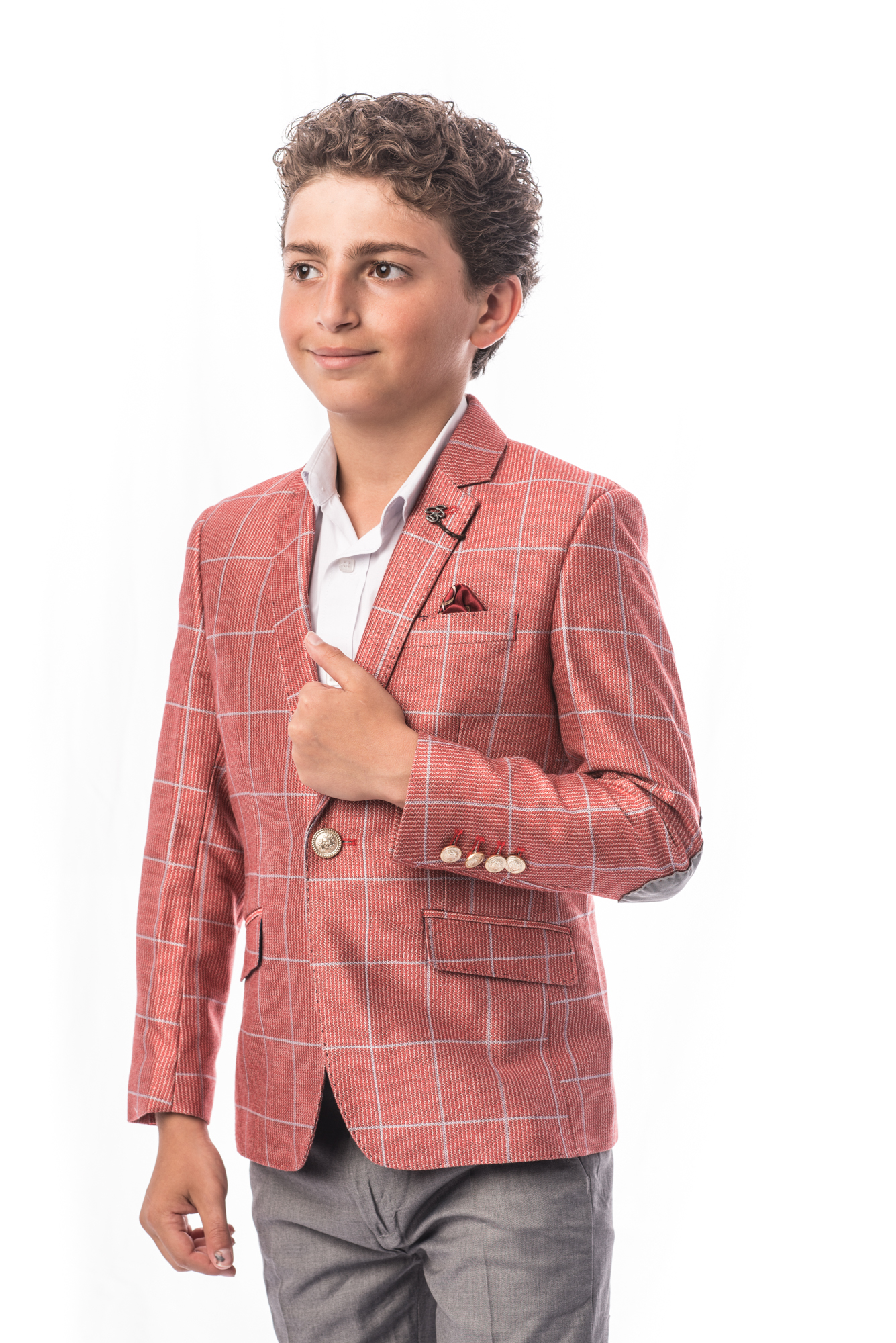 fashion plaid boys blazers sports coat jacket ebbs1679