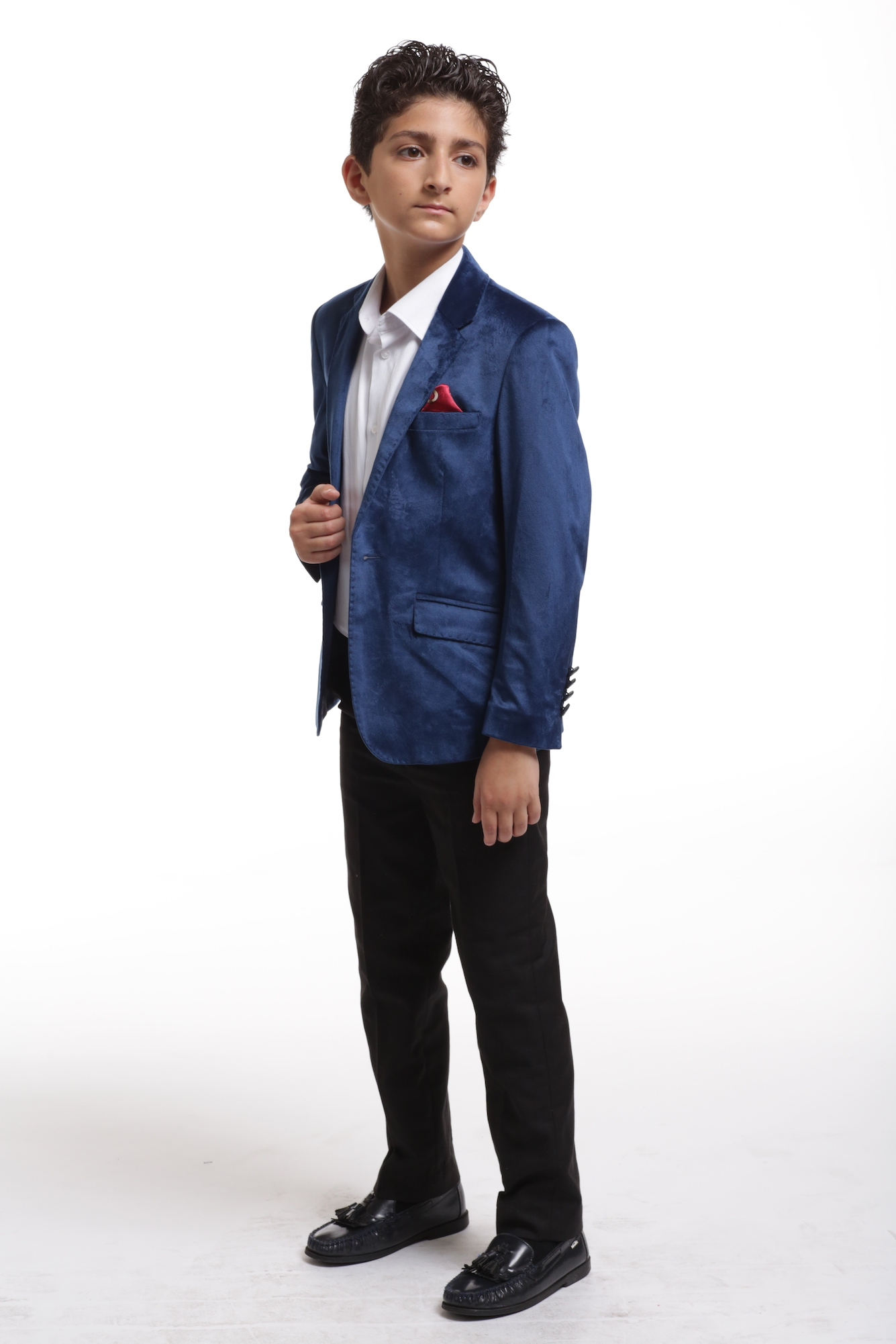Elie Balleh Super Fine Solid Velvet Boy's Blazers - Sports Coat Jacket