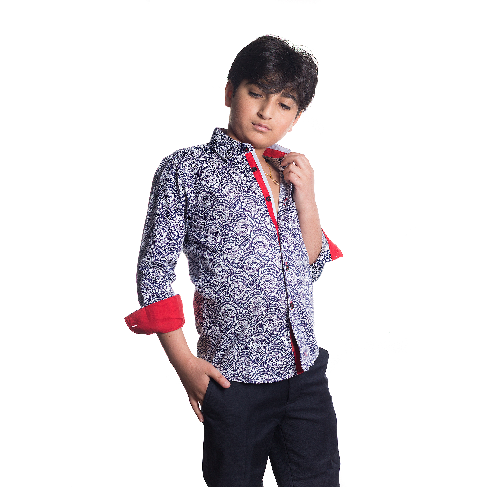 Elie Balleh Milano Italy Boy's Dress / Casual Shirts EBSH129B
