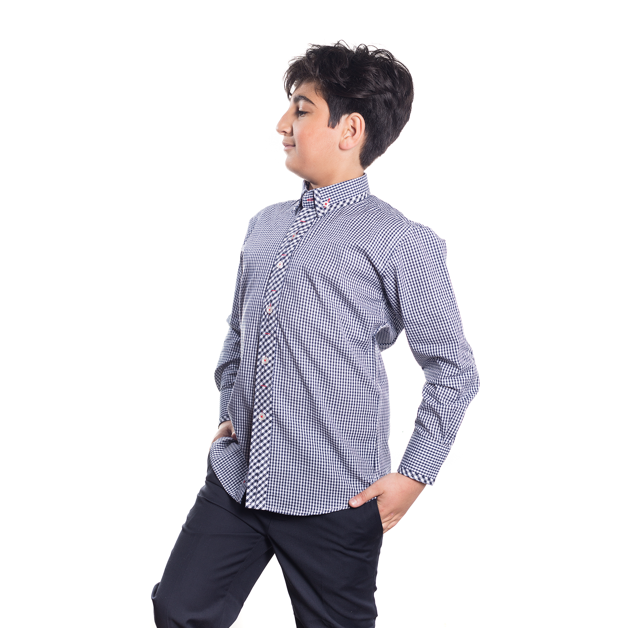 Gingham Boys Shirts / Button Down EBSH133B