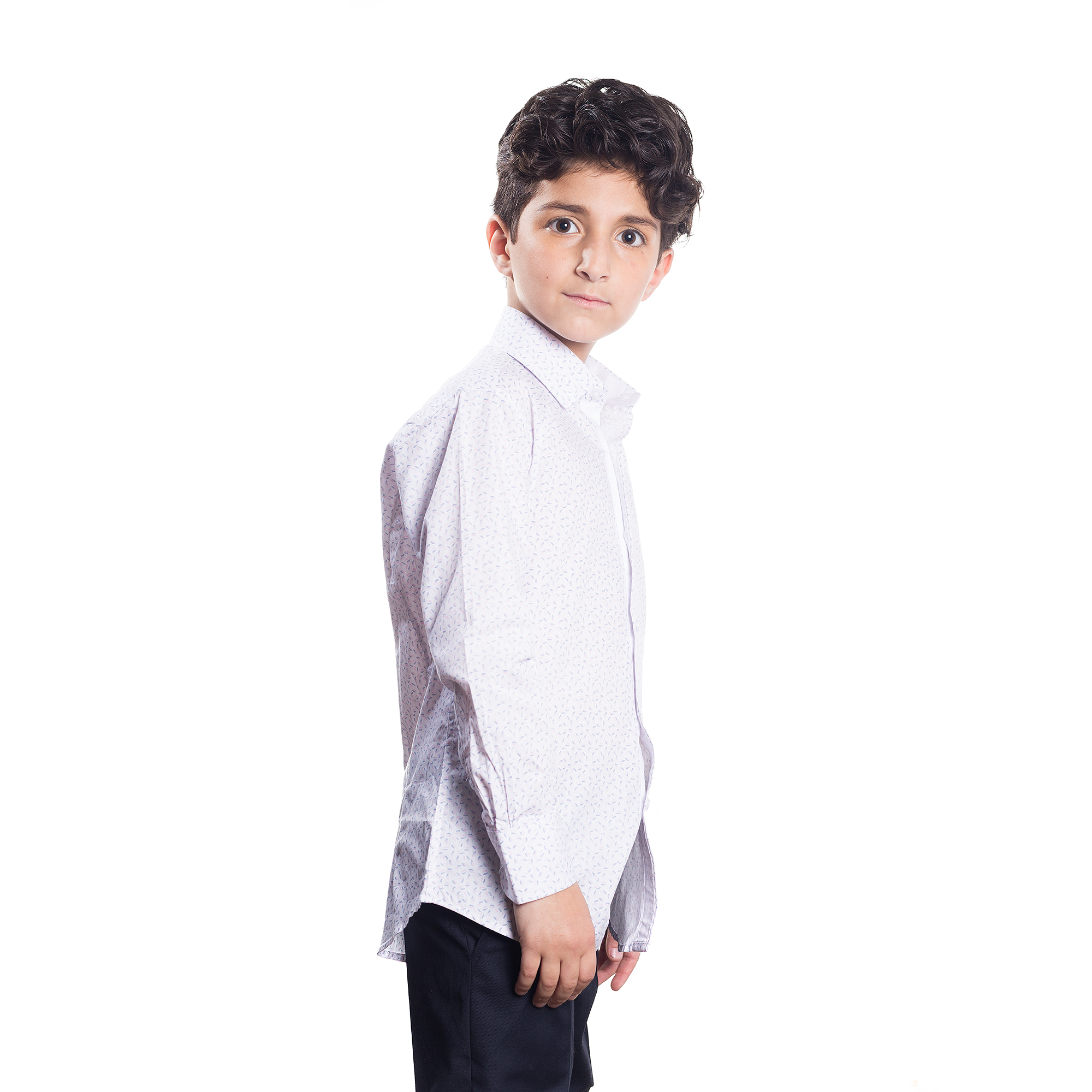 Feather Print Boys Shirts / Button Down EBSH144B