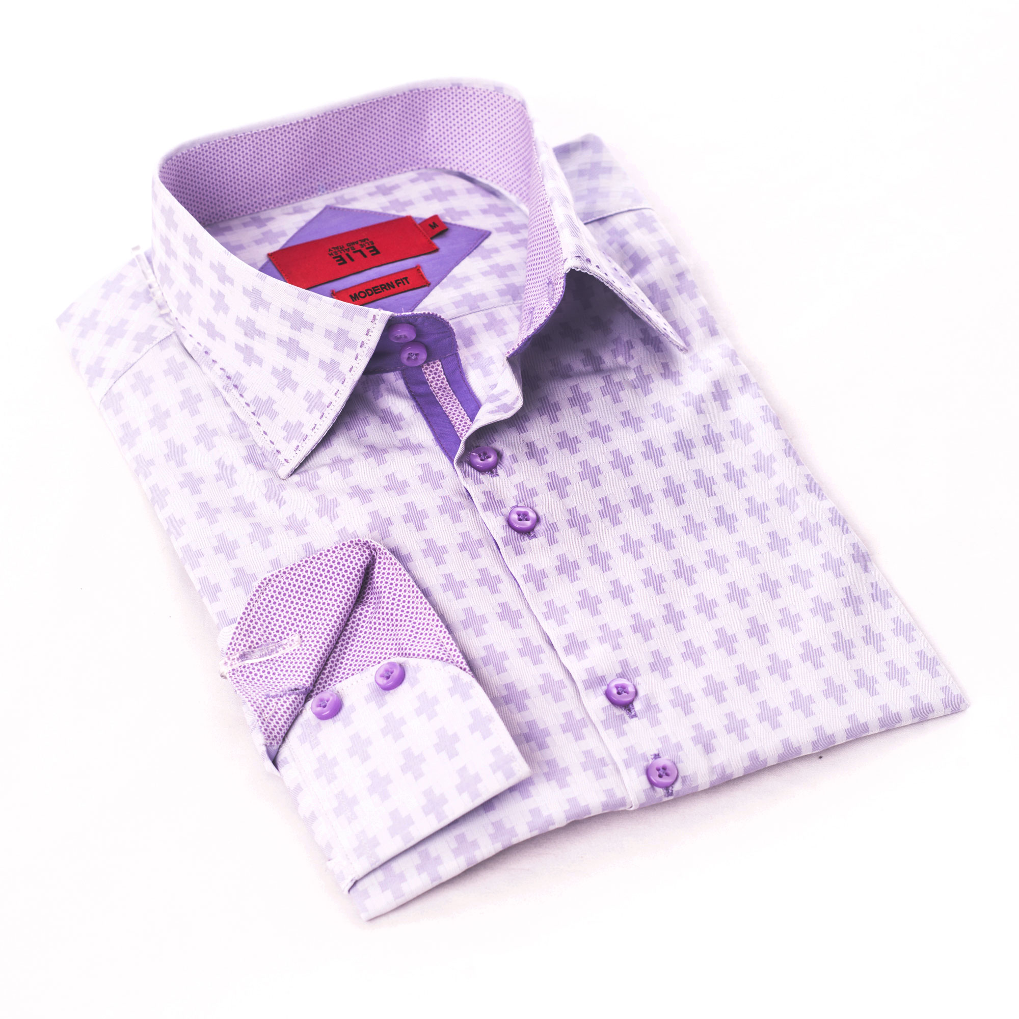 Solid Textured Boys Shirts Button Down Ebsh241b