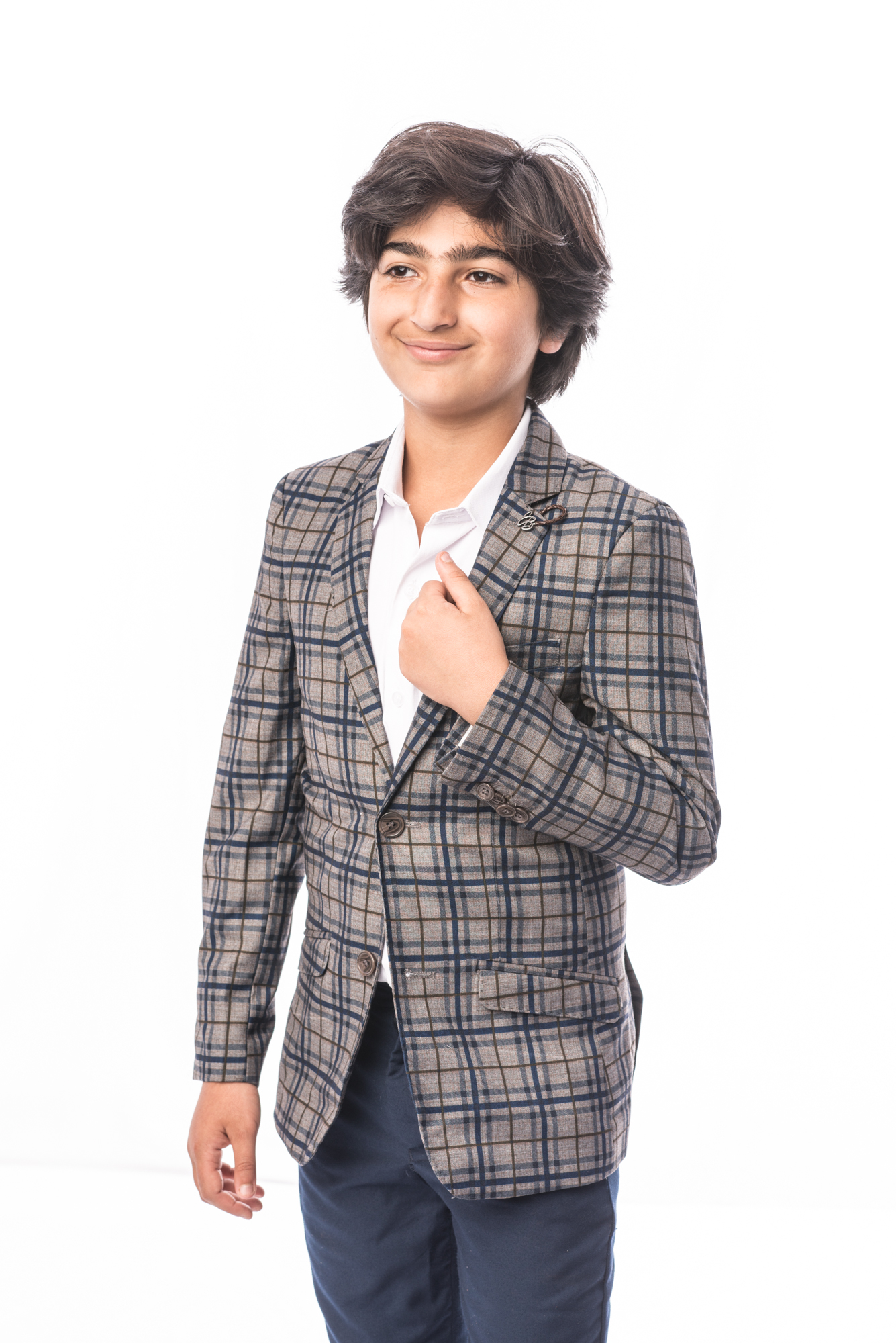 Plaid Boys Suits EBSW1692B