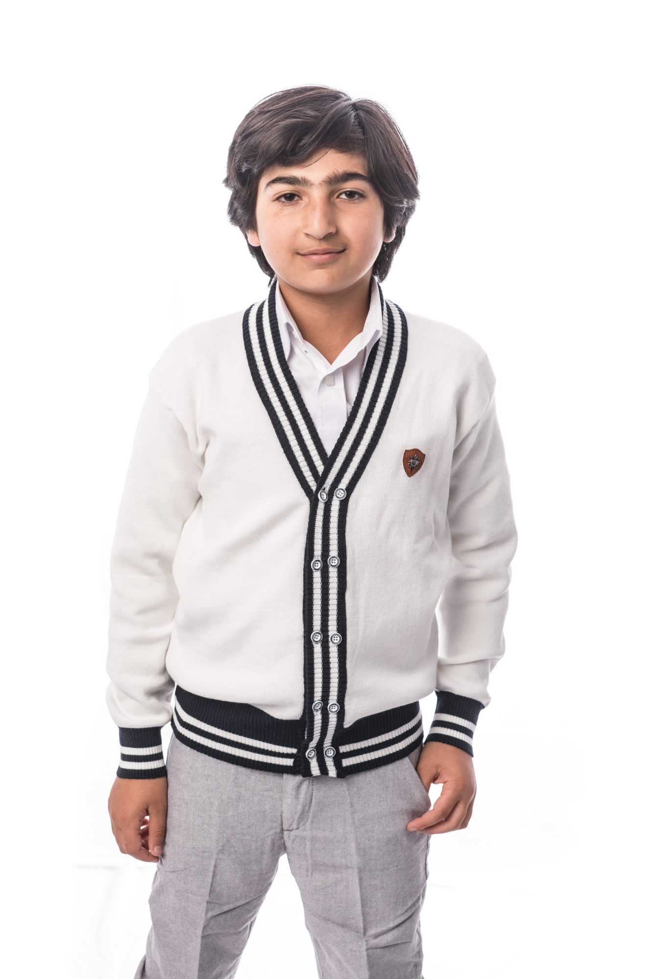 Solid Cardigan Boys Sweater EBST1609B