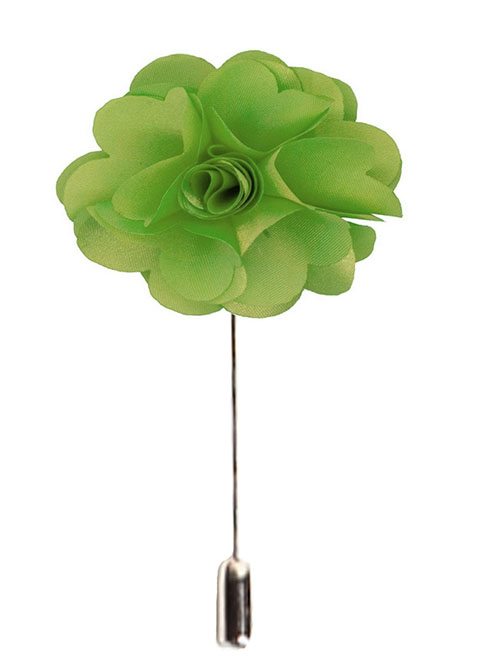 Green Men's Flower Lapel Pin EBFP4-10M