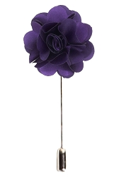 Elie Balleh Large Solid Flower Lapel Pin Boutonniere