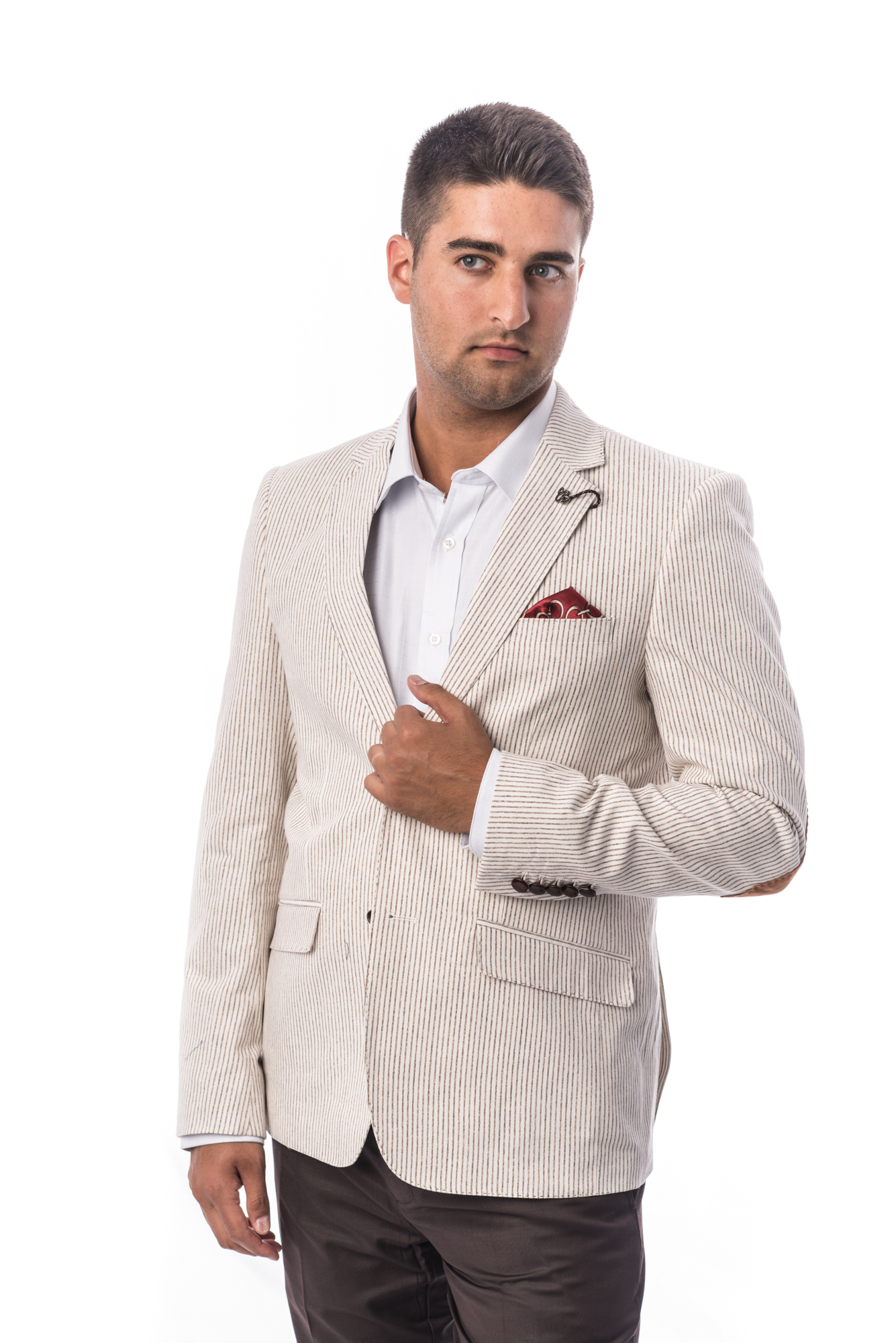 Pinstripe Men Blazers / Sports Coat Jacket EBBS1705M