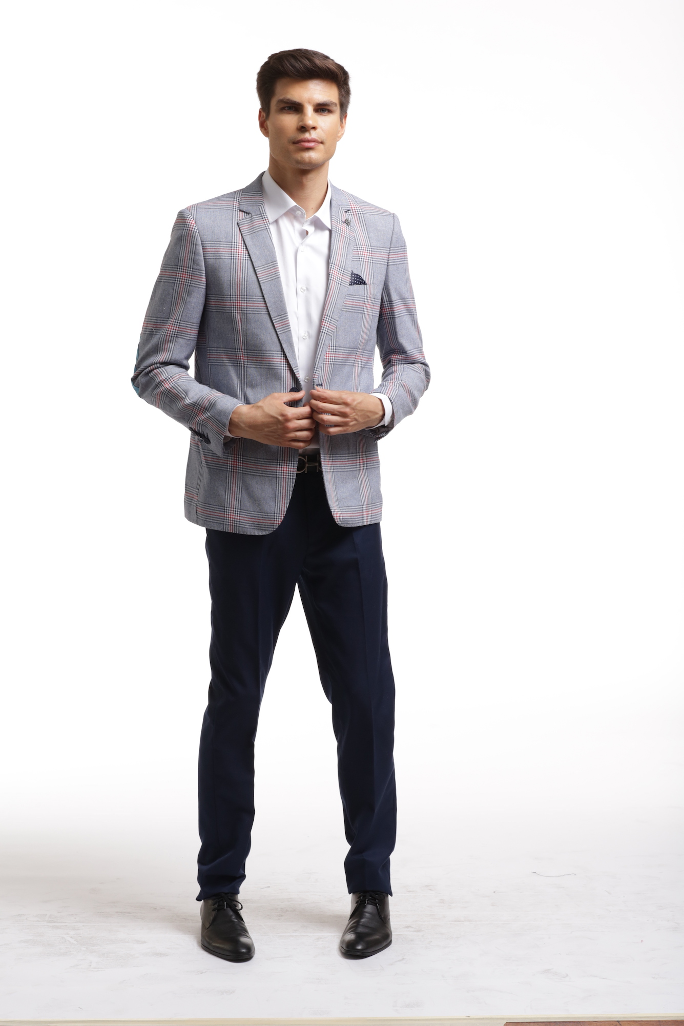 Elie Balleh Wild Checkered Men's Blazers - Sports Coat Jacket