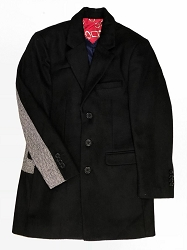 Elie Balleh Black Solid And Harringbone Men/Coats