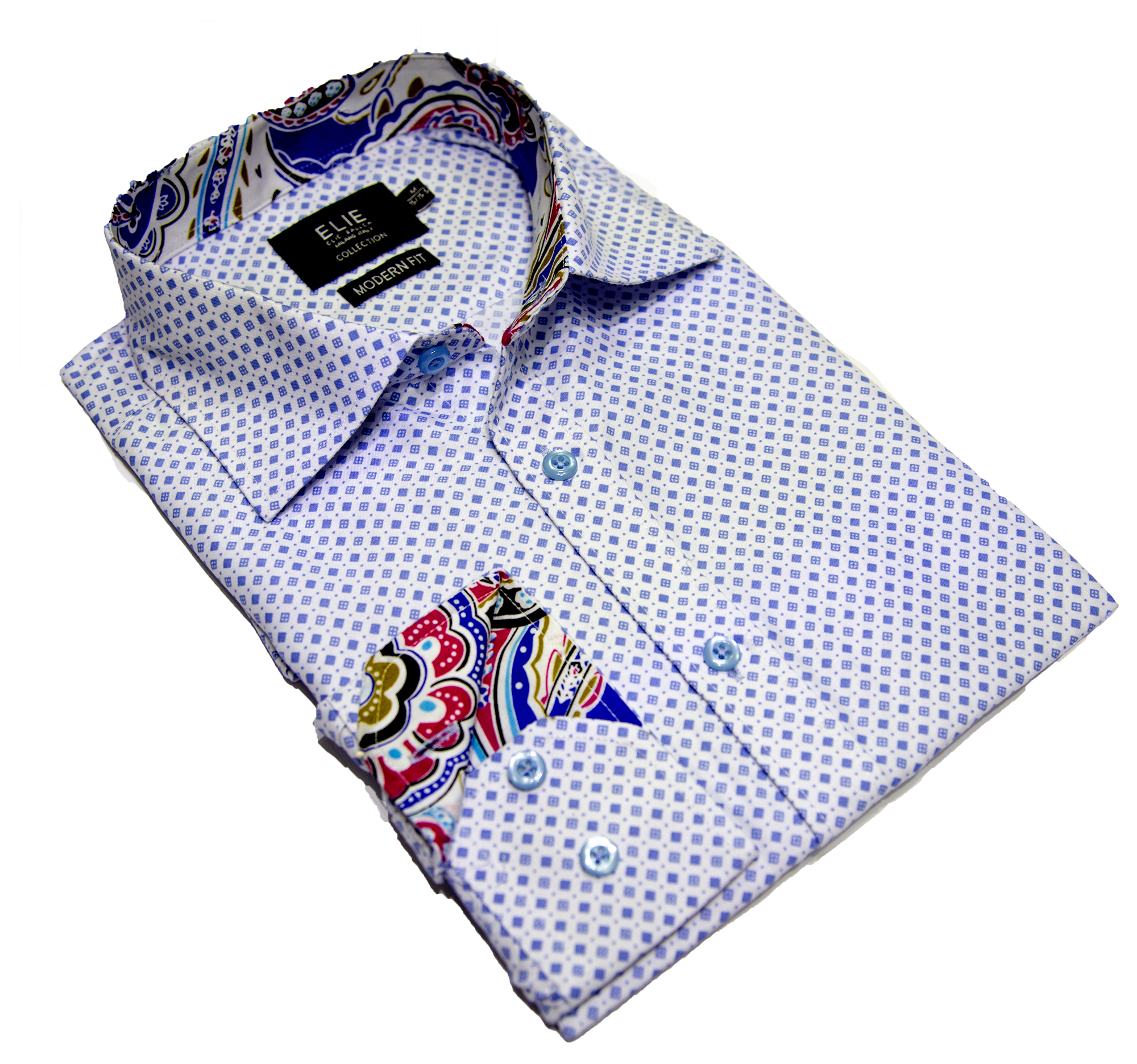 Diamond Grid Men's Shirts/Button Down CEBSH324M