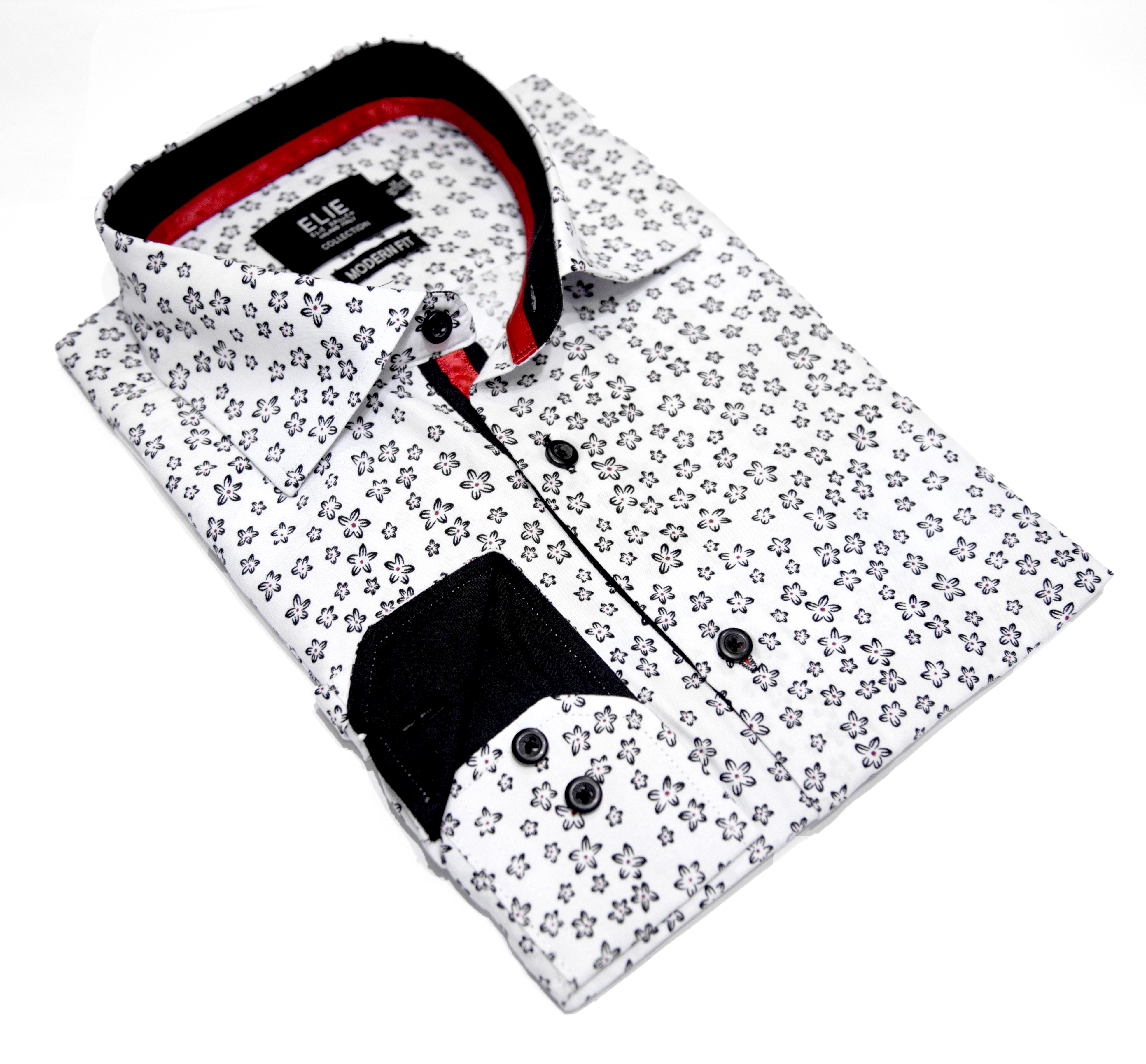 Small Floral Print Men's Shirts/Button Down CEBSH329M