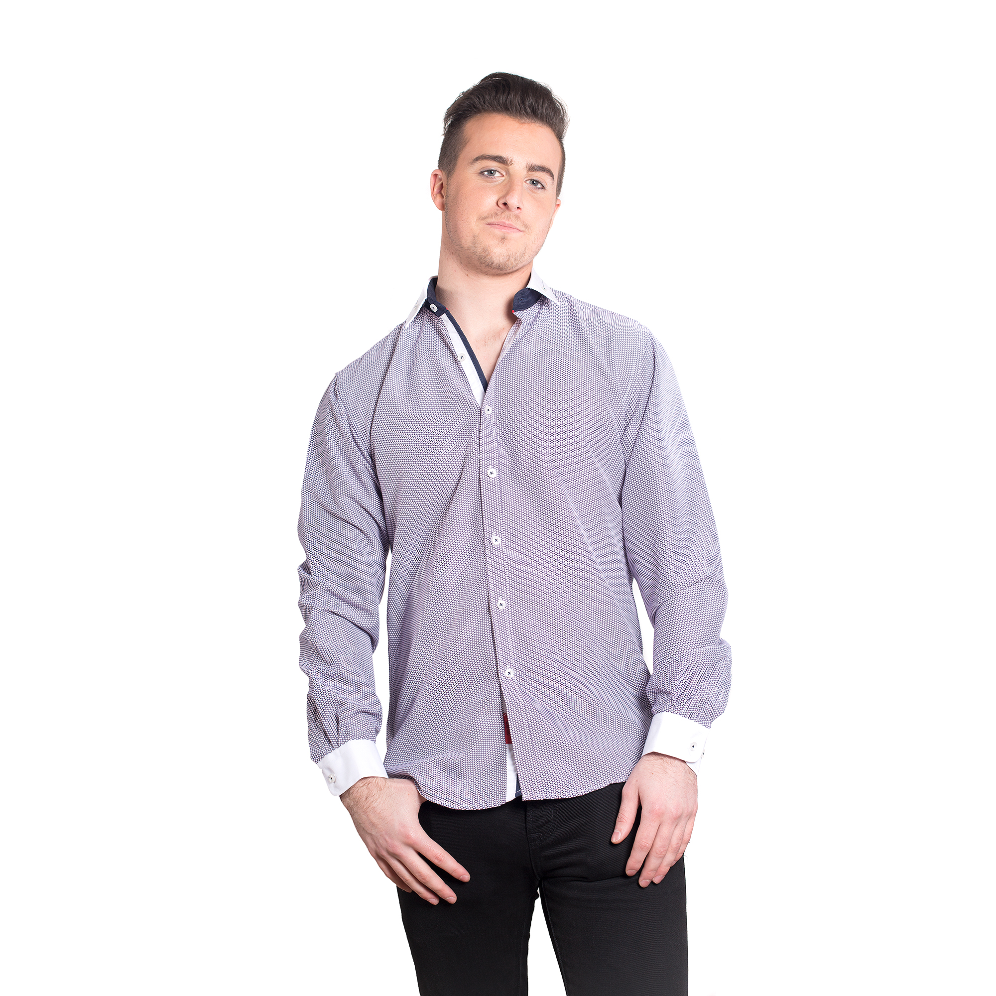 Elie Balleh Geometric Men Shirts / Button Down