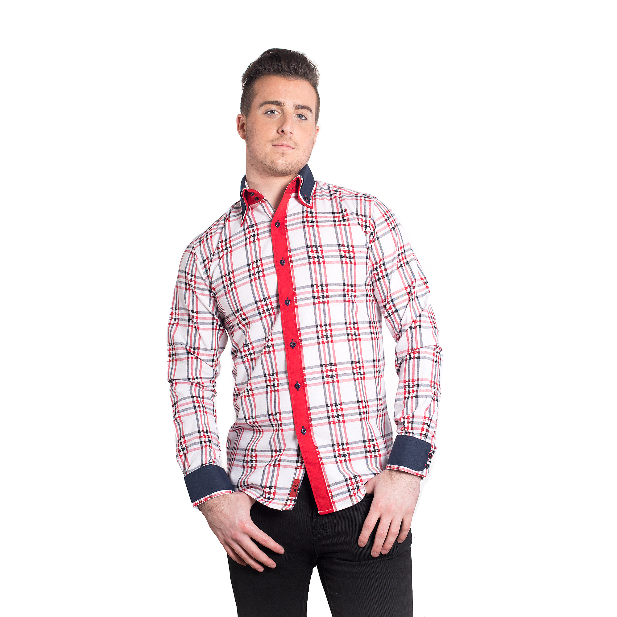 Elie Balleh Checkered Men Shirts / Button Down