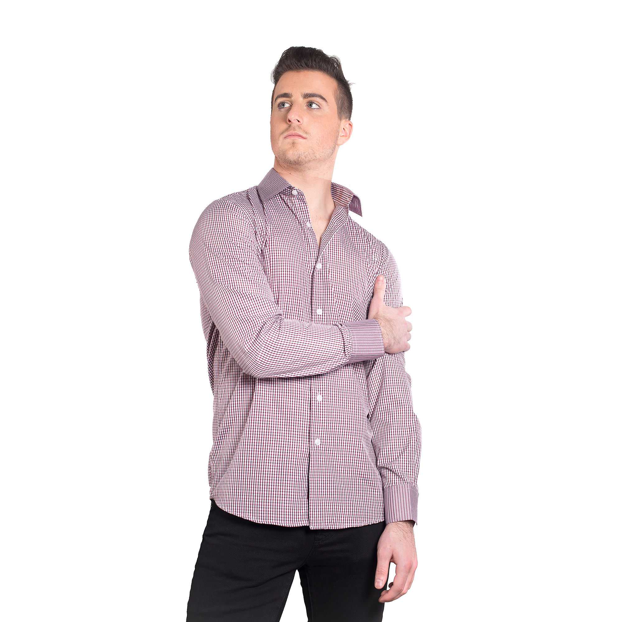 Elie Balleh Fine Checks Men Shirts / Button Down