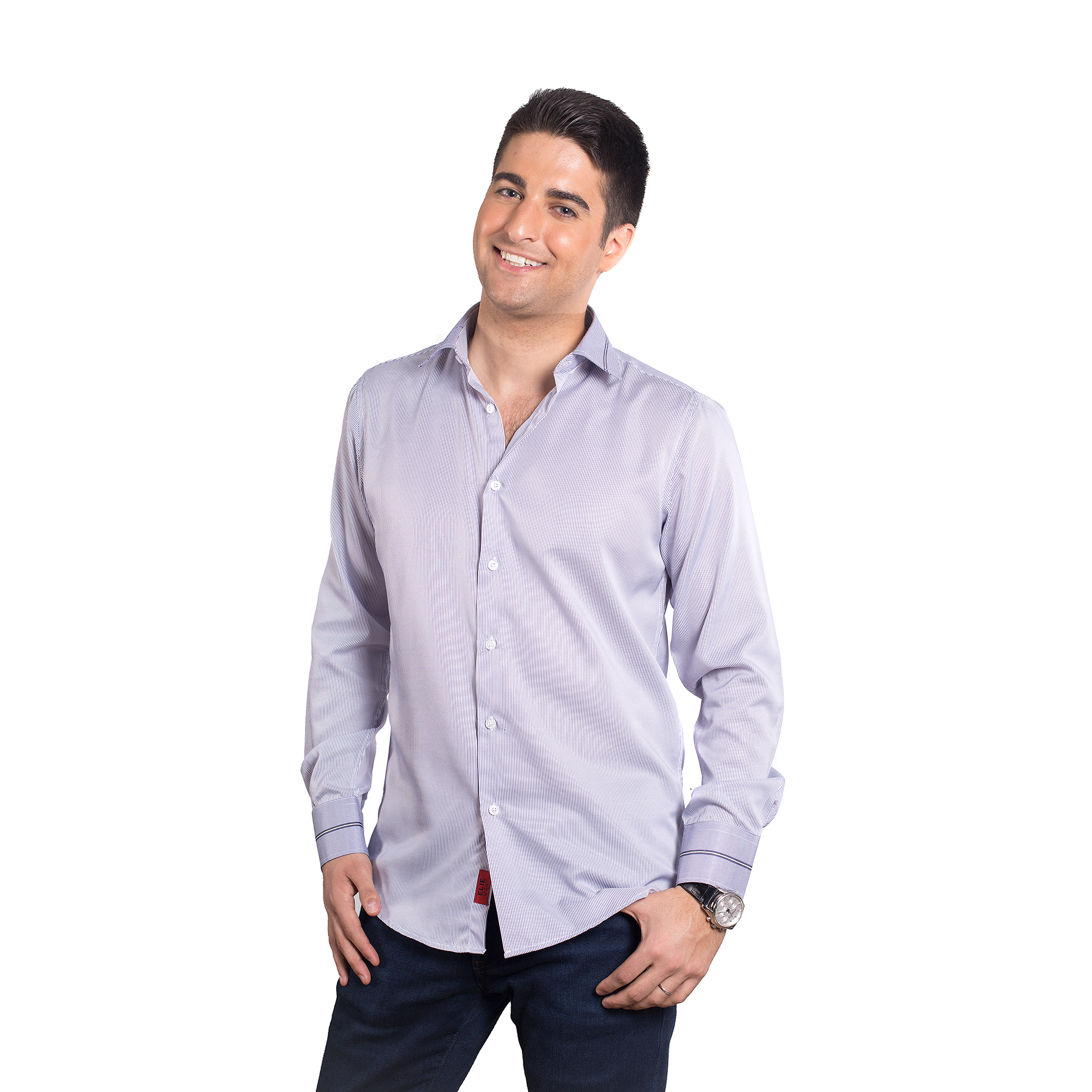 Elie Balleh Strips Men Shirts / Button Down