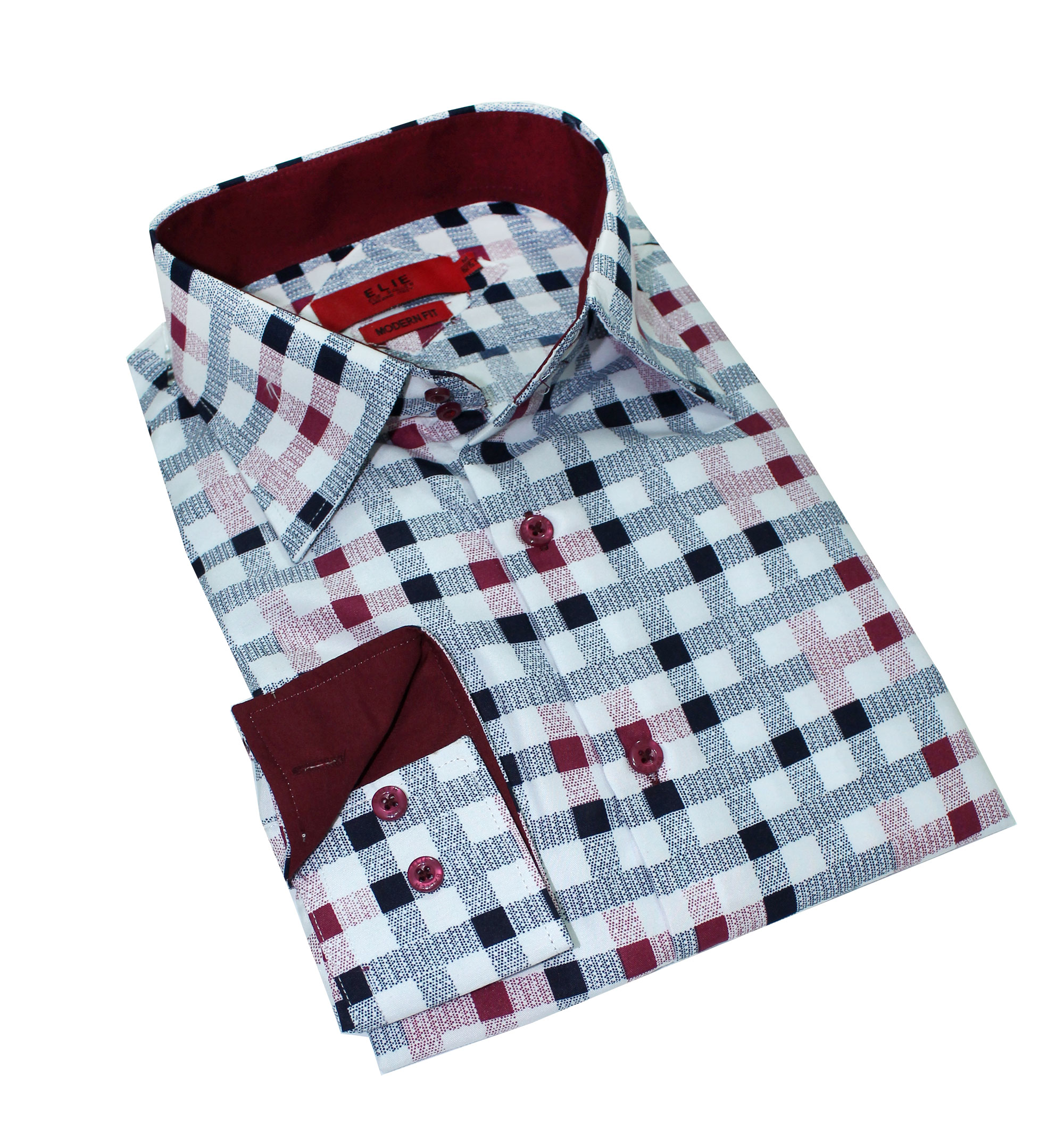 Elie Balleh Digital Checkerboard Men Shirts / Button Down