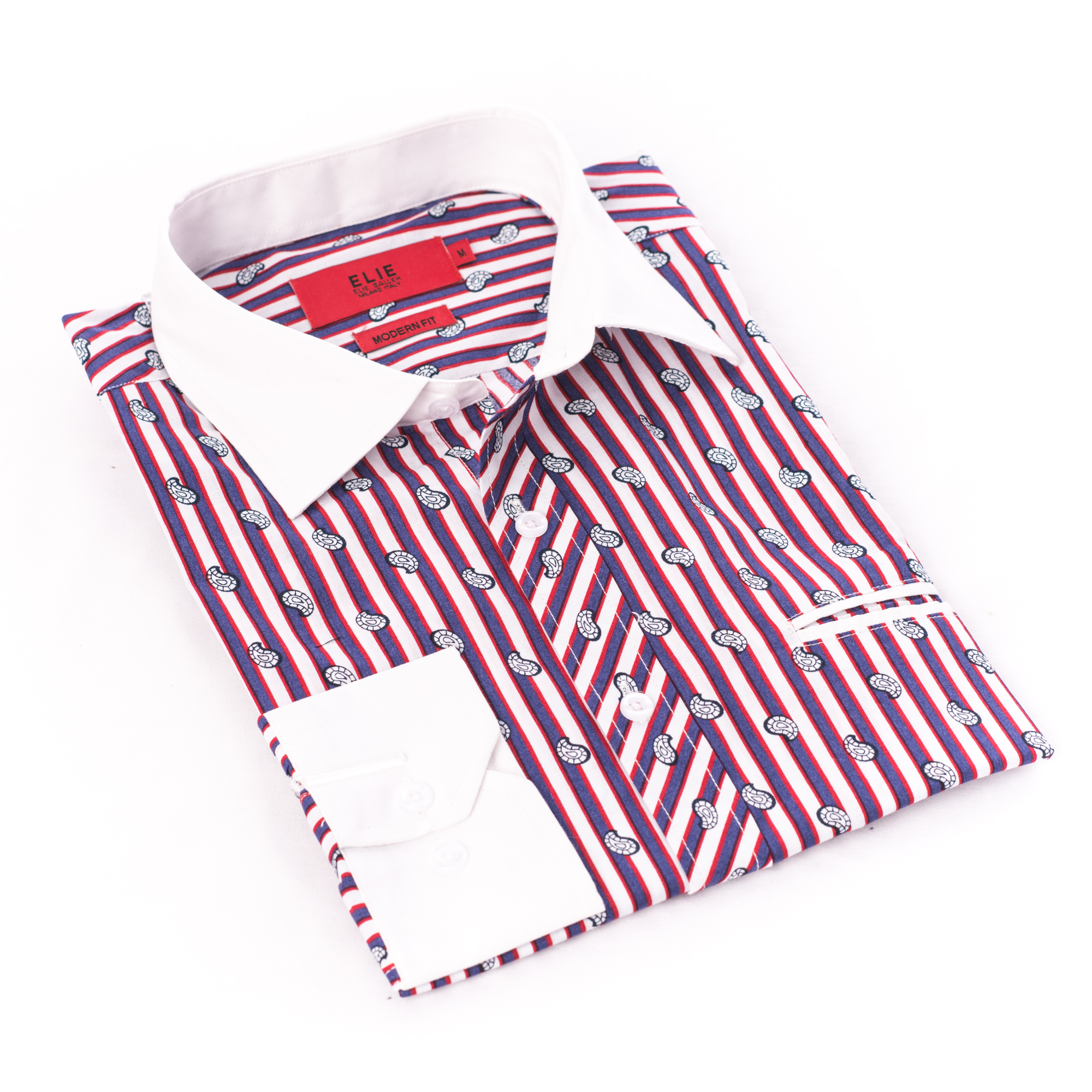 Paisley & Strips Men Shirts / Button Down EBSH239M