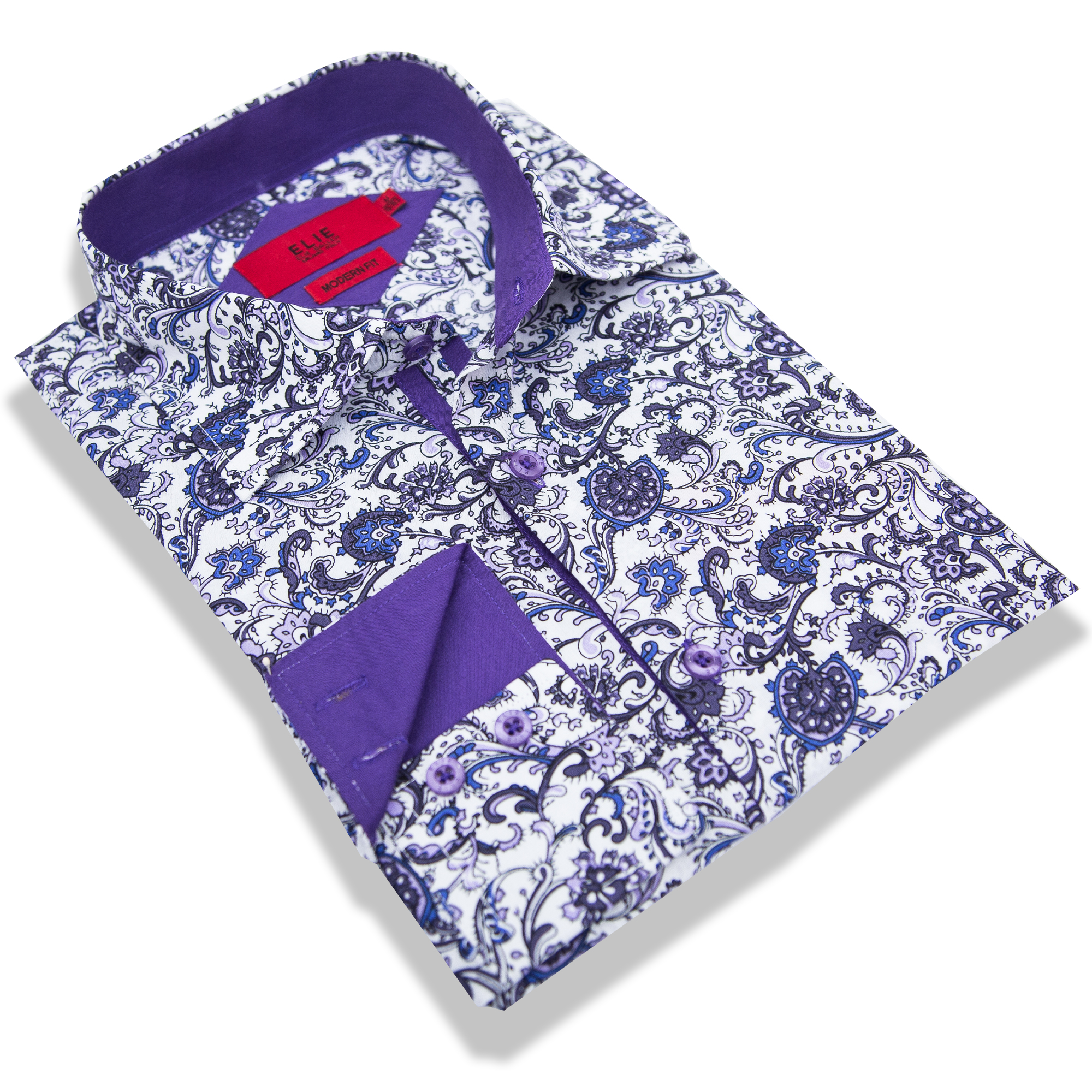 Elie Balleh Purple Leaves Men/Shirts