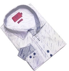 Elie Balleh Digital Rain Men's Dress Casual Button Down Shirts
