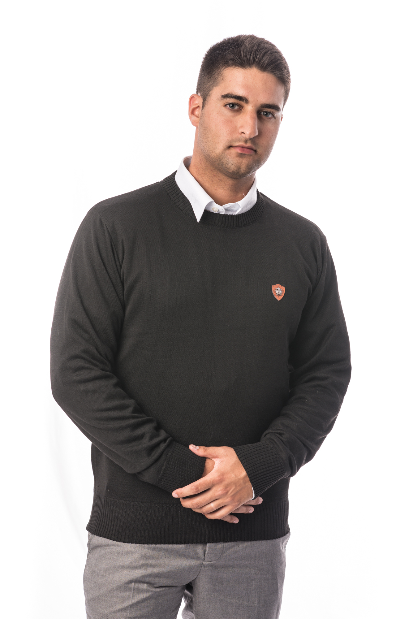 Solid Men Sweater EBST1601M