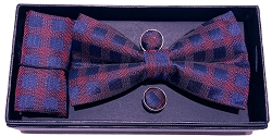 Elie Balleh Plaids Premium Fashion 3Pc Bowties Set