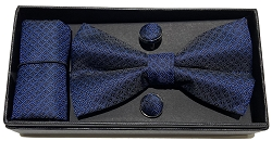 Elie Balleh Fine Checkered Fashion 3Pc Bowties Set