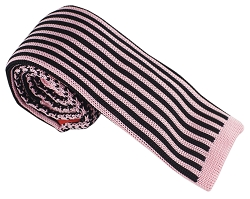 Elie Balleh Knit Hounds Tooth & Strips Black Boys Tie