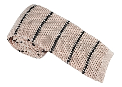 Elie Balleh Knit Strips Black Boys Tie
