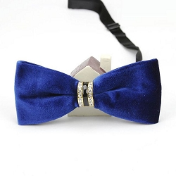 Elie Balleh Diamond Encrusted Velvet Men's Bowties