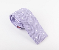 Elie Balleh Knit Polka Dots Black Boys Tie