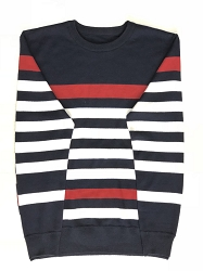 Elie Balleh Navy Red Strips Boy's Sweaters