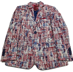 Geometric Brocade Men's Blazer Jacket UEBBW1995M