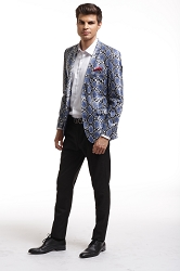 Snake skin PU Men's Blazers - Sports Coat Jacket UEBBW1996M