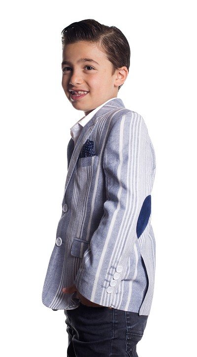 Wild Stripe Pattern Boys Blazers - Sports Coat Jacket EBBS1664