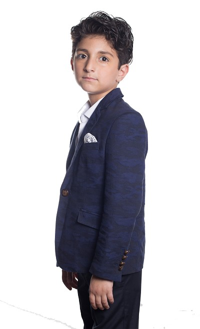 Elie Balleh Camouflage Boys Blazers - Sports Coat Jacket
