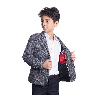 Elie Balleh Mélange Wool Boys Blazers - Sports Coat Jacket