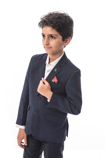 Elie Balleh Digital Dots Boys Blazers - Sports Coat Jacket