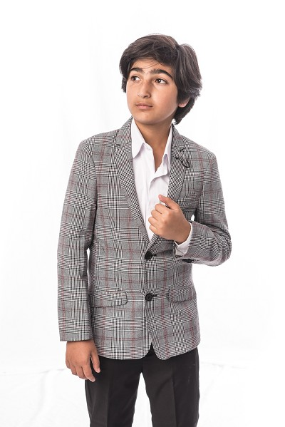 Elie Balleh Checkered Boys Suits