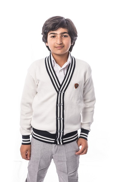 Elie Balleh Solid Cardigan Boys Sweater