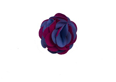 Elie Balleh Hot Pink/Blue Boys Flower Lapel Pin