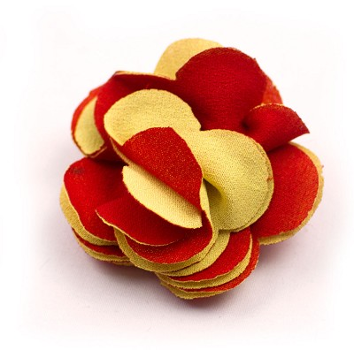 Elie Balleh Yellow/Red Boys Flower Lapel Pin
