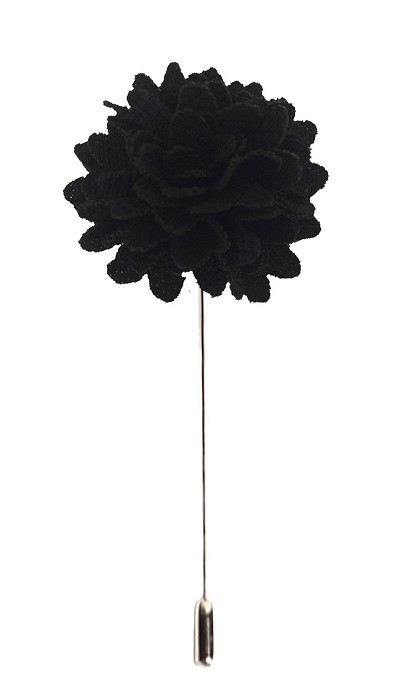 Elie Balleh Black Men's Flower Lapel Pin