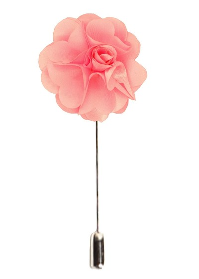 Elie Balleh Pink Men's Flower Lapel Pin