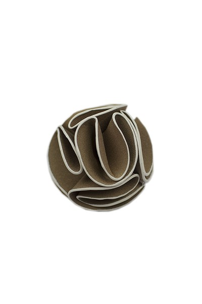 Elie Balleh Tan Men's Flower Lapel Pin