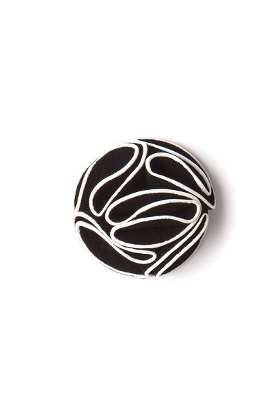 Elie Balleh Black Boys Flower Lapel Pin
