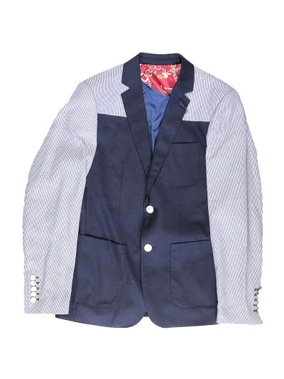 Elie Balleh Navy Men's Blazers - Sports Coat Jacket