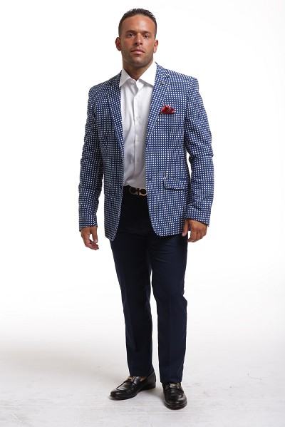 Elie Balleh Doted Blazer Men's Blazers - Sports Coat Jacket
