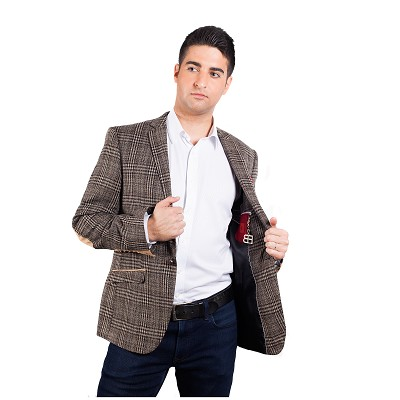 Elie Balleh Checkered Men Blazers - Sports Coat Jacket